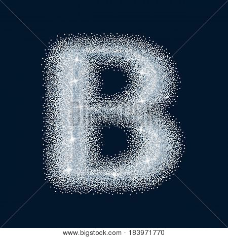 Sugar Sweet Stylized Realistic Letter. Alphabet Series. A Collection Of Sugar Symbols.