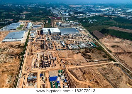 Industrial Estate Land Development Earthmoving and Construction Thailand