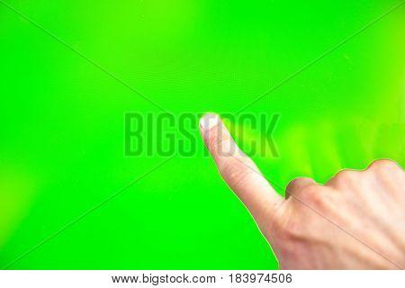 Digital Green Screen Man Hand