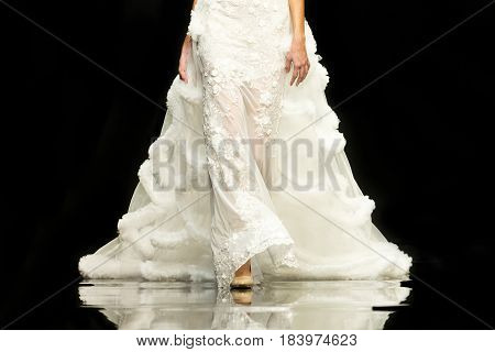 Fashion Show Runway Beautiful Wedding Dress