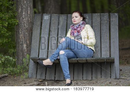 Women alone thinking and lonely in jacket