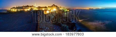 Saint-malo Walled Town Night View