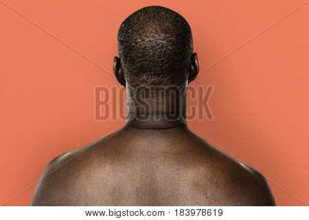 Adult Man Shirtless Studio Portrait