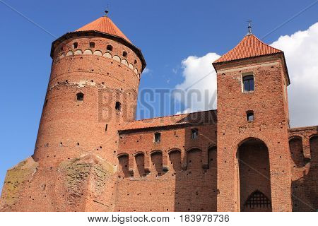 Gothic fourteenth-century castle in Reszel (Poland, Masuria). Built between 1350-1401. It is a tourist attraction of Masuria.