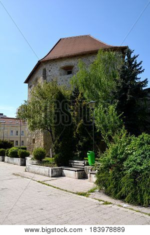 Typical urban landscape in the city Cluj-Napoca, continuing the old antic roman town Napoca, Transylvania, Romania