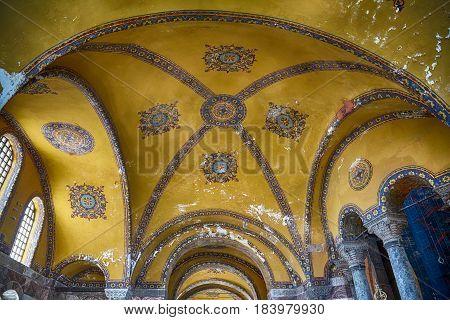 The Interior Of Hagia Sophia, Istanbul