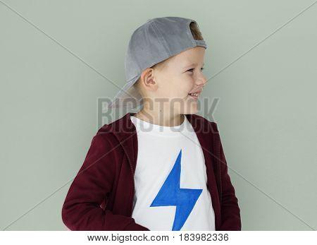 Caucasian Little Boy Casual Smiling