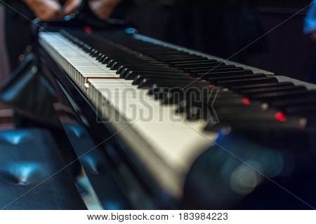 Piano Keys On Black Classical Grand Piano
