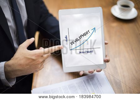 Business Success Graphic Upward Arrow