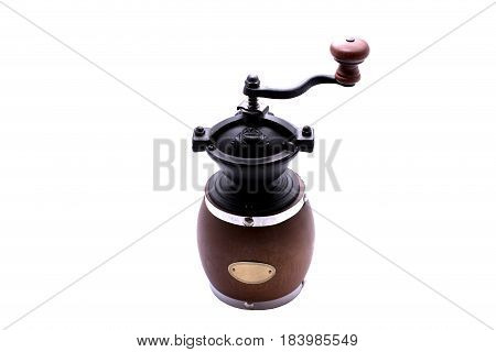Coffee Grinder isoloted on white background, bean coffee