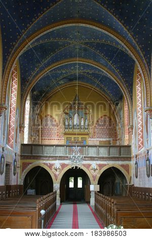 VELESEVEC, CROATIA - AUGUST 23: Parish Church of Saint Peter in Velesevec, Croatia on August 23, 2011.