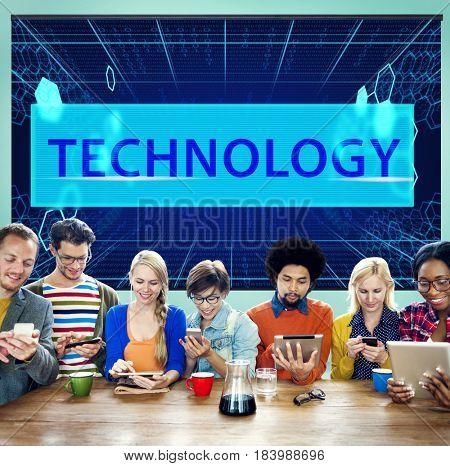 Technology Networking Binary Code Computer Language