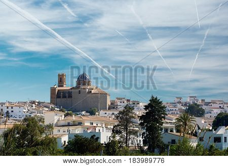 Townscape of Altea the most beautiful place in the Costa Blanca. Spain