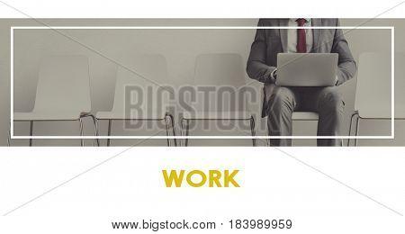 Businessman using laptop analysis data investment