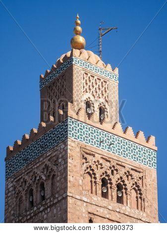 La Koutoubia Tower Minaret In Marrakech In Morocco