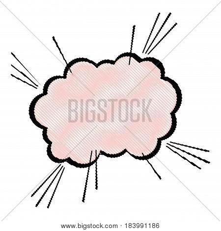 drawing bubble comic speech chat vector illustration design