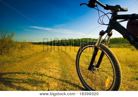 bicycle on road  tourism concept