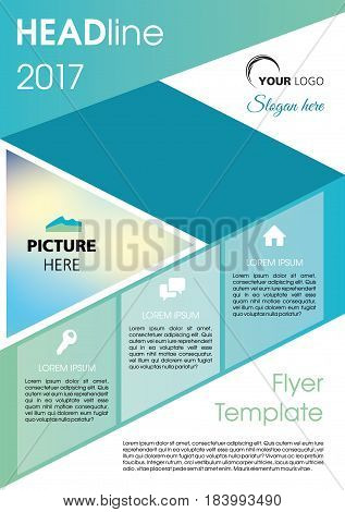 Vector Flyer, Corporate Business, Annual Report, Brochure Design And Cover Presentation With Dark Bl