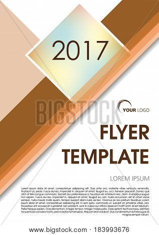 Vector Flyer, Corporate Business, Annual Report, Brochure Design And Cover Presentation With Brown L