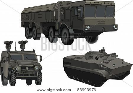 Fatal weapon. Military transport. Multiplier system. Infantry fighting vehicle