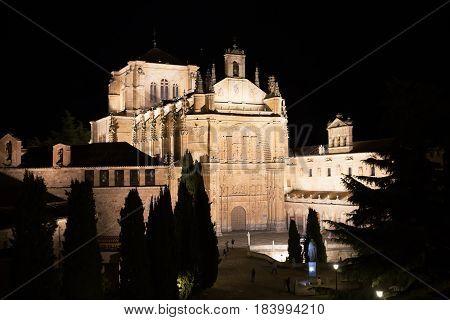 Church of San Esteban and convent at night, Salamanca