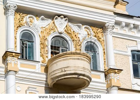 Fragment of the Chernoyarovsky Passage - Profitable House of the Merchant Chernoyarov in Kazan, Russia