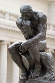 Rodin's Thinker created by Auguste Rodin at the end of the 18 century poster