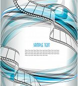 Curved photographic film. Vector poster