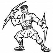 A vector illustration of a Titan mascot. poster