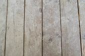 Car decking wood subfloor underlayment shows an outdated structure on a house remodel diy project. poster