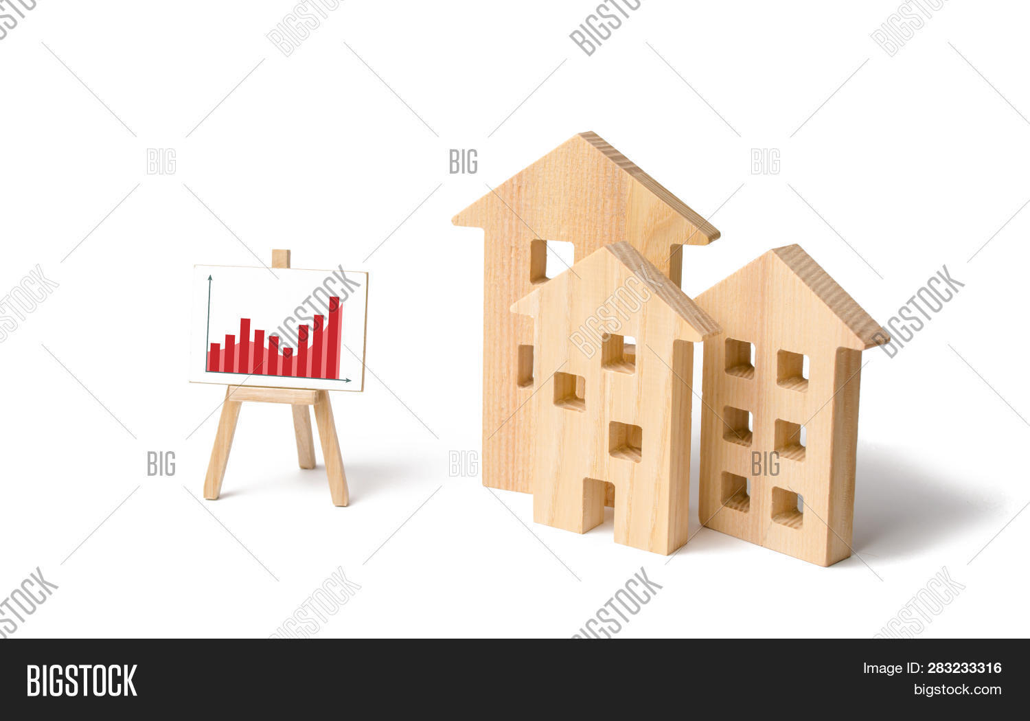 Wooden Houses Stand Image Photo Free Trial Bigstock