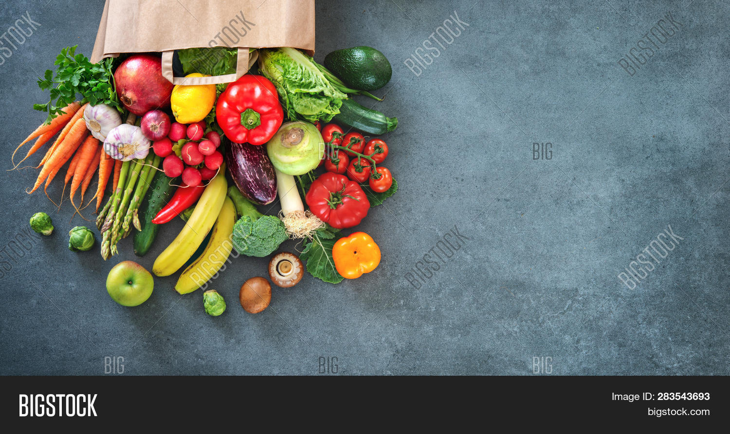 Healthy Food Selection Image Photo Free Trial Bigstock