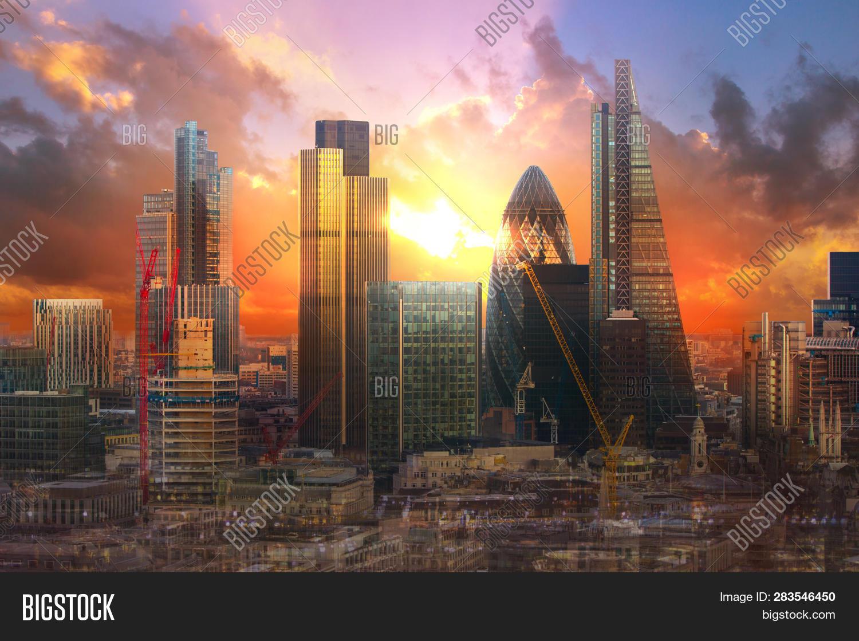 City London Sunset Uk Image Photo Free Trial Bigstock