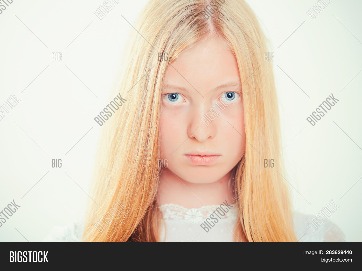 2b8f6d61e74 Albino Girl With Blue Eyes And White Skin. Woman With Natural Beauty Look  And No