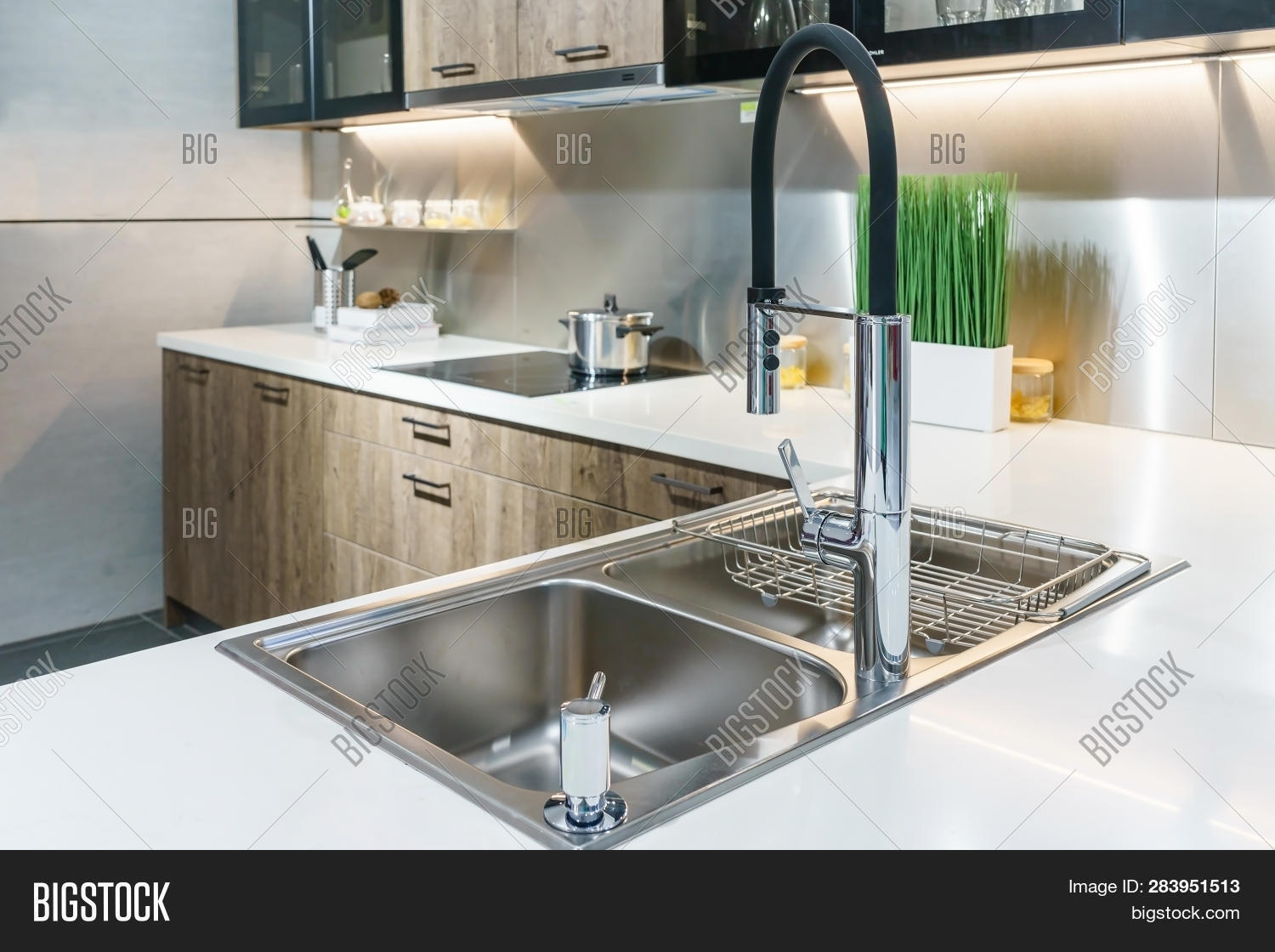 Stainless Kitchen Sink Image & Photo (Free Trial)   Bigstock