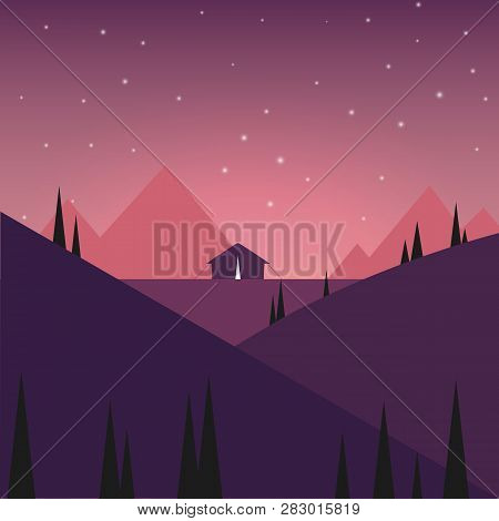 Tent In The Night Mountains