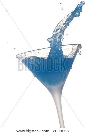 Cocktail Splash On White Background