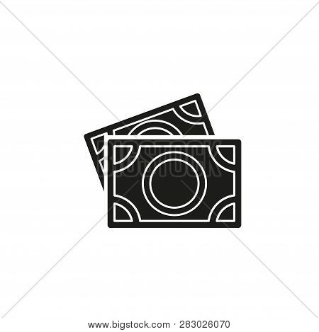 Vector Dollars Sign, Money Dollars Icon - Currency Dollar Bill Symbol. Flat Pictogram - Simple Icon
