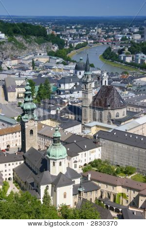 View On Salzburg From The Fortress, Austria
