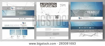 Business Templates In Hd Format For Presentation Slides. Abstract Vector Layouts In Flat Design. Geo