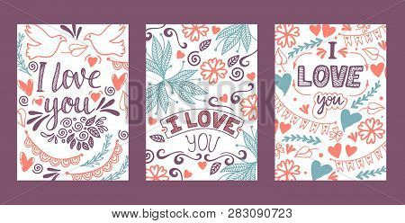Love Lettring Vector Lovely Calligraphy Lovable Sign Sketch Iloveyou On Valentines Day Beloved Card