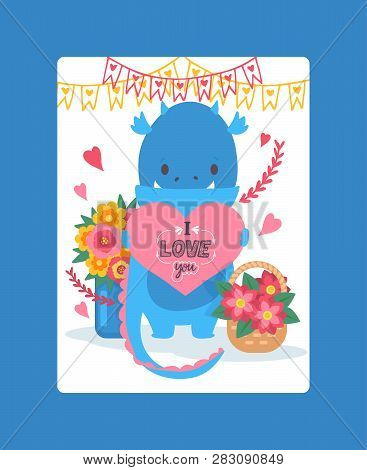 Love Vector Lovely Cartoon Flowery Sunflower Lovable Card Iloveyou On Valentines Day Illustration Fl