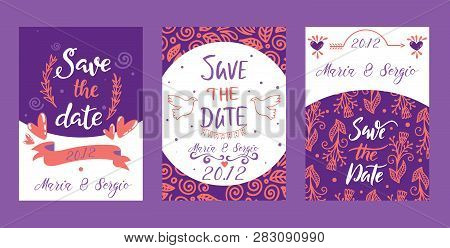 Love Lettring Sav E The Date Vector Lovely Calligraphy Lovable Sign Sketch Iloveyou On Valentines Da
