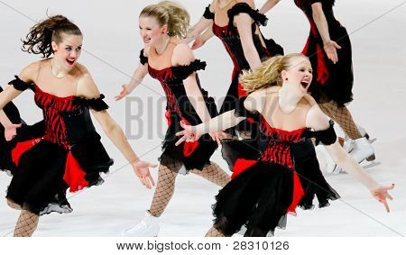 Team Marigold Ice Unity, of Finland, competes in the 2011 World Synchronized Skating Championships
