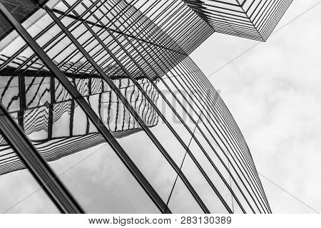 Vienna, Austria - April 22, 2009: Facade Of Uniqua Tower In Vienna, Austria. The Building Received T