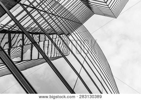 Vienna, Austria - April 22, 2009: Facade Of Uniqua Tower In Vienna, Austria. The Building Received T