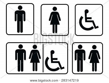 Washroom Sign - Restroom Symbol,male Washroom Symbol And Male Washroom Symbol,washroom Sign Collecti