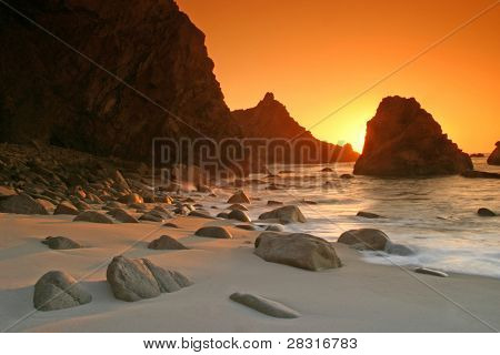 sunset in the beach