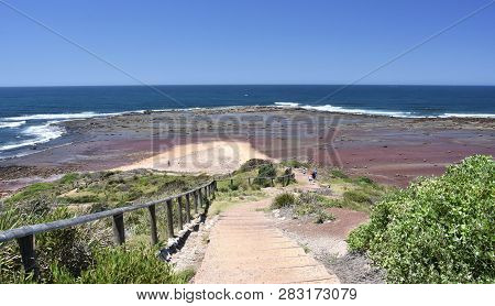 Long Reef Headland At Low Tide (sydney Nsw Australia). Iconic Headland Was  Owned By The Salvation A
