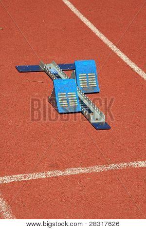 atlhetics outdoor in sport stadium